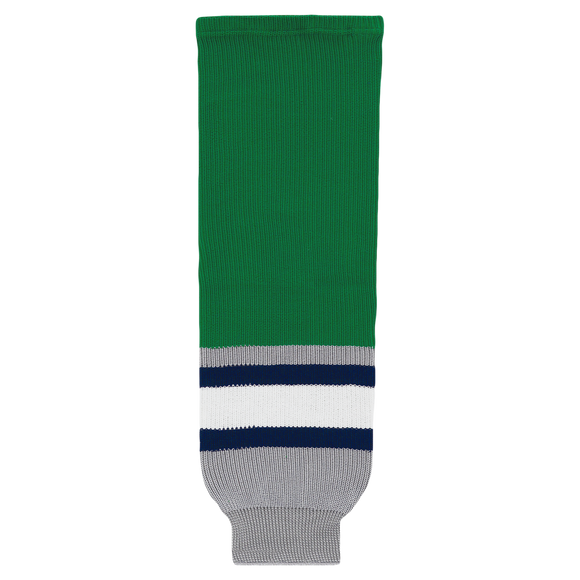 Athletic Knit (AK) HS630-945 Plymouth Whalers Kelly Green Knit Ice Hockey Socks