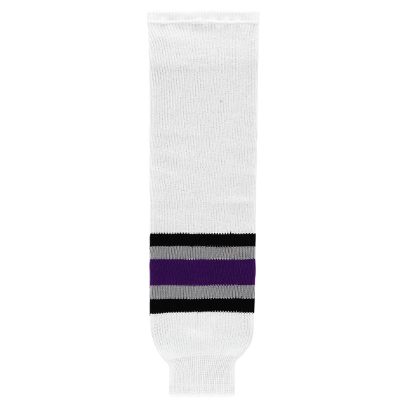 Athletic Knit (AK) HS630-952 1998 Los Angeles Kings White Ice Hockey Socks