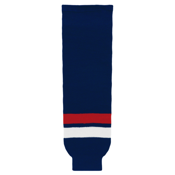 Athletic Knit (AK) HS630 2005 Team USA Navy Ice Hockey Socks