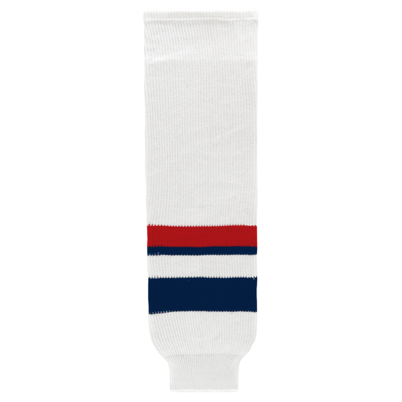 Athletic Knit (AK) HS630 2005 Team USA White Ice Hockey Socks