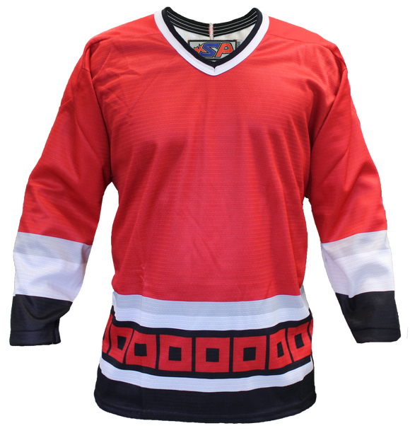 SP Apparel League Series Carolina Hurricanes Red Sublimated Hockey Jersey - PSH Sports