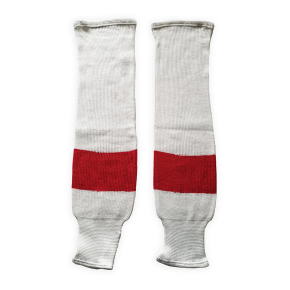 K1 Sportswear Detroit Red Wings White Knit Ice Hockey Socks