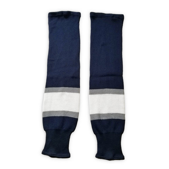 K1 Sportswear Edmonton Oilers Navy Knit Ice Hockey Socks