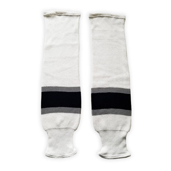 K1 Sportswear Edmonton Oilers White Knit Ice Hockey Socks
