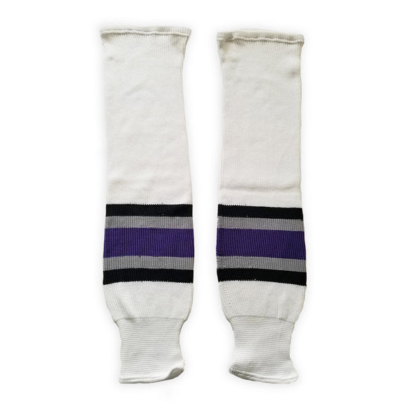 K1 Sportswear Los Angeles Kings S747 White Knit Ice Hockey Socks