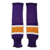 K1 Sportswear Los Angeles Kings S823 Purple Knit Ice Hockey Socks