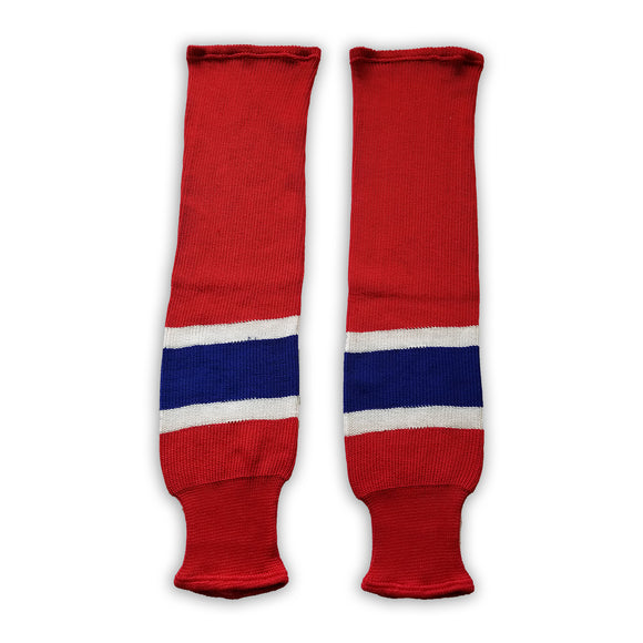 K1 Sportswear Montreal Canadiens Red Knit Ice Hockey Socks