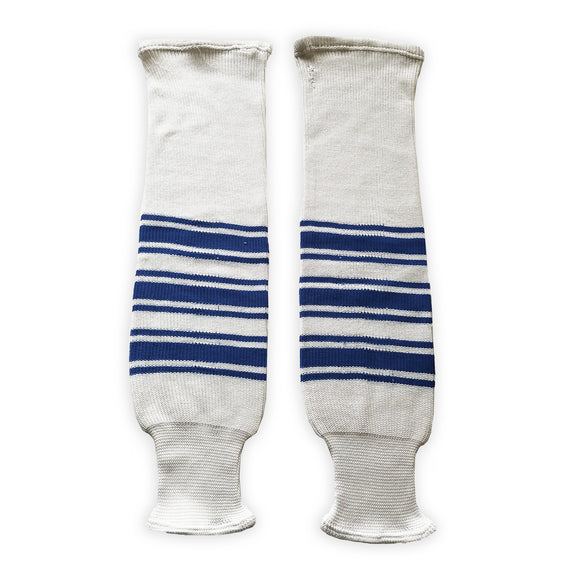 K1 Sportswear Toronto Maple Leafs White Knit Ice Hockey Socks