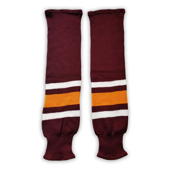 K1 Sportswear University of Minnesota Golden Gophers S734 Maroon Knit Ice Hockey Socks