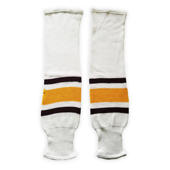 K1 Sportswear University of Minnesota Golden Gophers S734 White Knit Ice Hockey Socks