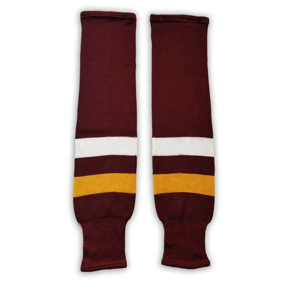 K1 Sportswear University of Minnesota Golden Gophers SCMNM Maroon Knit Ice Hockey Socks