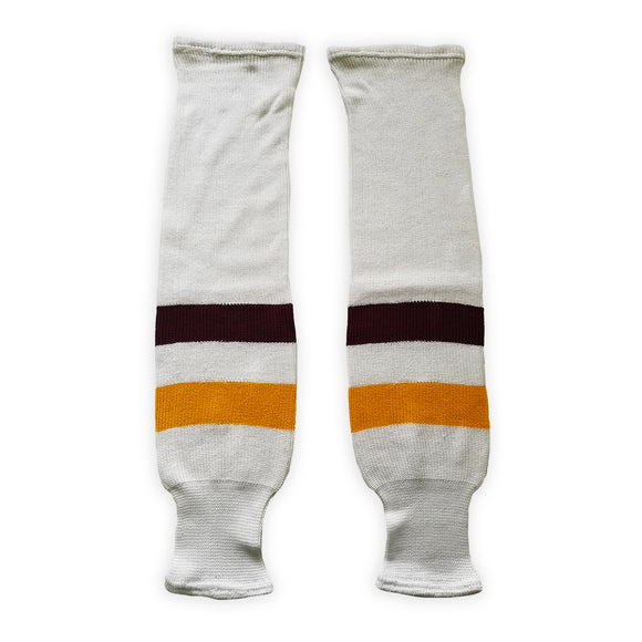 K1 Sportswear University of Minnesota Golden Gophers SCMNM White Knit Ice Hockey Socks