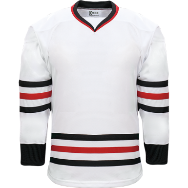 Kobe Sportswear K3G06H Chicago Blackhawks Home White Pro Series Hockey Jersey