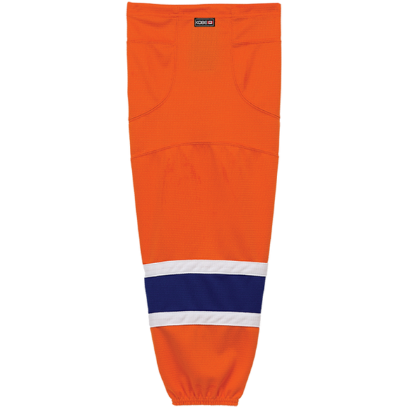 Kobe Sportswear K3GS97R Pro Series Edmonton Oilers Orange Mesh Ice Hockey Socks