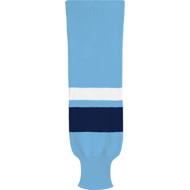 Kobe Sportswear X9800 Powder Blue/Navy/White X Series League Knit Ice Hockey Socks