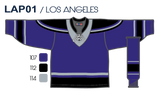 SP Apparel League Series Los Angeles Kings Purple Sublimated Hockey Jersey - PSH Sports
