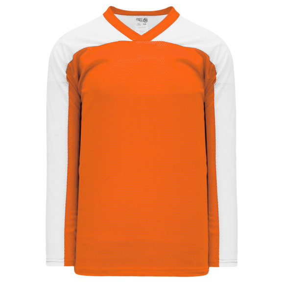 Athletic Knit (AK) LB153 Orange/White Box Lacrosse Jersey