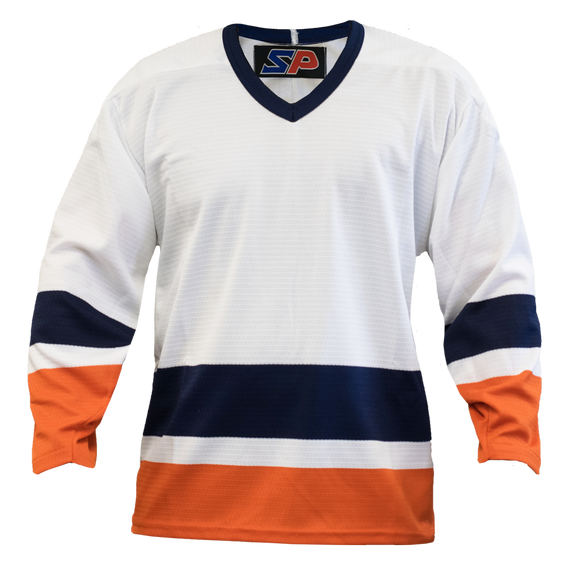 SP Apparel League Series New York Islanders White Sublimated Hockey Jersey