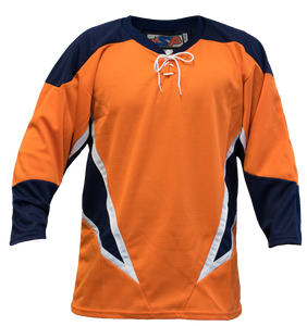 SP Apparel League Series New York Islanders Third Orange Sublimated Hockey Jersey