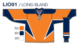 SP Apparel League Series New York Islanders Third Orange Sublimated Hockey Jersey - PSH Sports