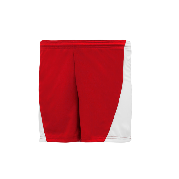 Athletic Knit (AK) LS605L-208 Red/White Ladies Field Lacrosse Shorts