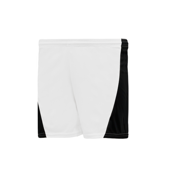 Athletic Knit (AK) LS605L-222 White/Black Ladies Field Lacrosse Shorts