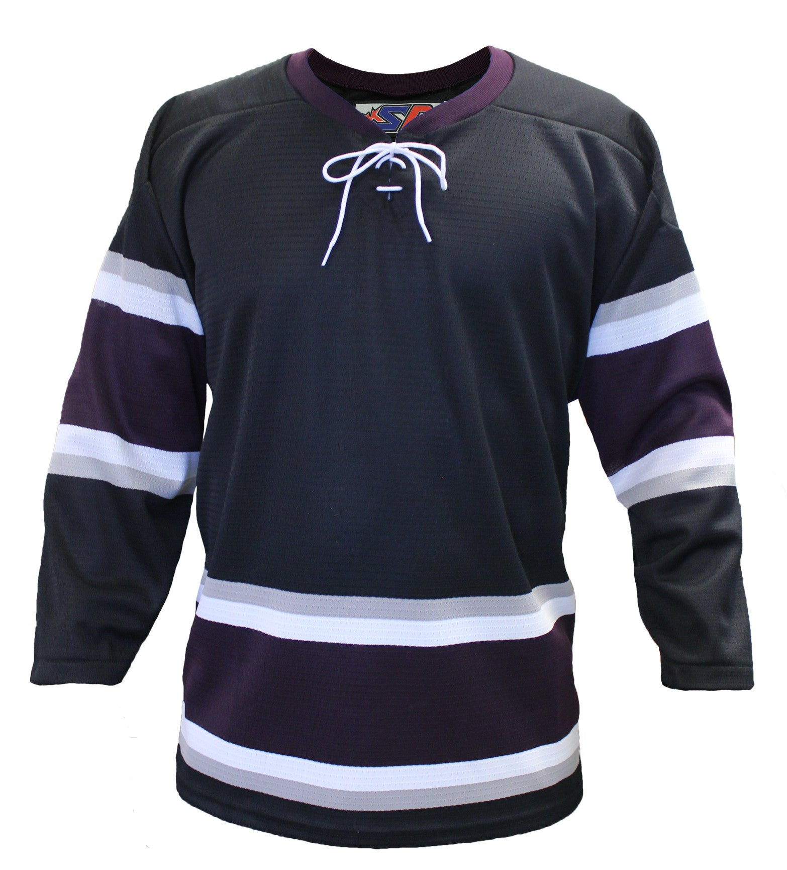 new styles 0d967 fc692 SP Apparel League Series Anaheim Mighty Ducks Third Black Sublimated Hockey  Jersey