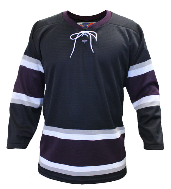 SP Apparel League Series Anaheim Mighty Ducks Third Black Sublimated Hockey Jersey - PSH Sports