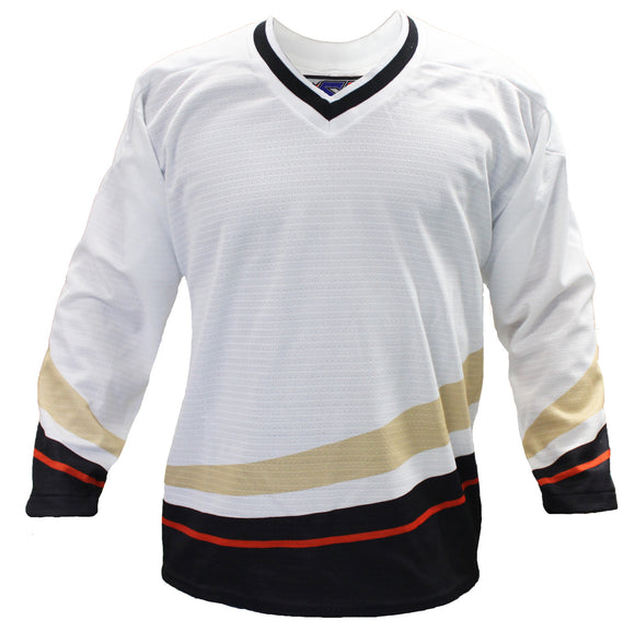 SP Apparel League Series Anaheim Ducks White Sublimated Hockey Jersey - PSH Sports