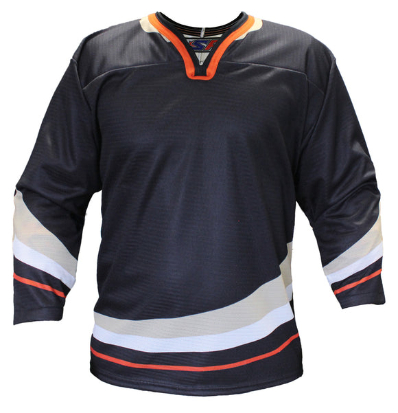SP Apparel Evolution Series Anaheim Ducks Black Sublimated Hockey Jersey - PSH Sports