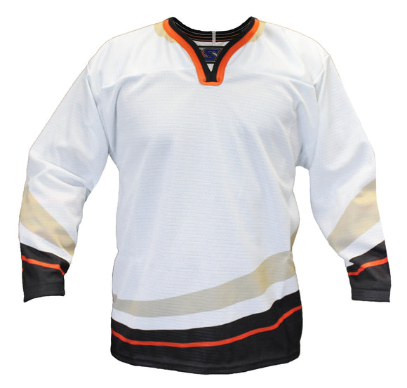 SP Apparel Evolution Series Anaheim Ducks White Sublimated Hockey Jersey - PSH Sports