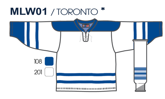 SP Apparel League Series Toronto Maple Leafs Third White Sublimated Hockey Jersey - PSH Sports