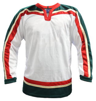SP Apparel League Series Minnesota Wild White Sublimated Hockey Jersey