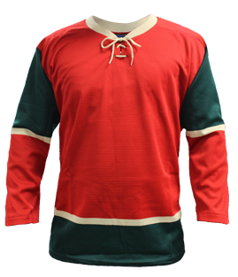 SP Apparel League Series Minnesota Wild Red Sublimated Hockey Jersey