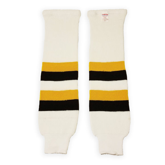 Modelline Knit Ice Hockey Socks - 2019 Boston Bruins Winter Classic White/Gold/Black