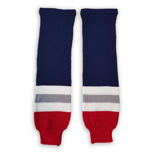 Modelline Knit Ice Hockey Socks - New York Rangers 1990's - PSH Sports