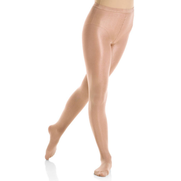 Mondor 3351 Semi-Opaque Shimmery Footed Figure Skating Tights - PSH Sports