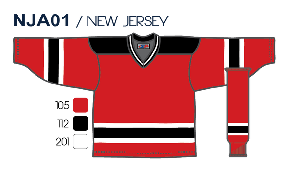 SP Apparel League Series New Jersey Devils Red Sublimated Hockey Jersey - PSH Sports
