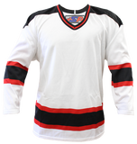 SP Apparel League Series New Jersey Devils White Sublimated Hockey Jersey