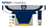 SP Apparel League Series Nashville Predators Navy Sublimated Hockey Jersey - PSH Sports