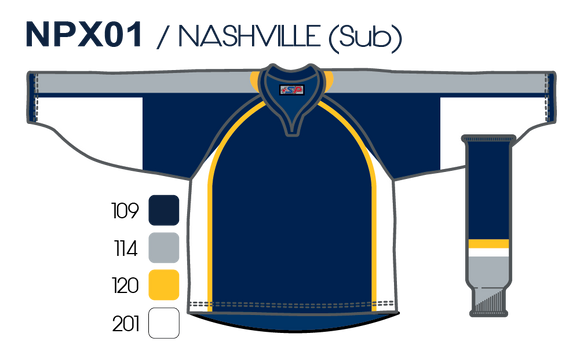 SP Apparel Evolution Series Nashville Predators Navy Sublimated Hockey Jersey - PSH Sports