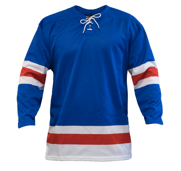 SP Apparel League Series New York Rangers Royal Blue Sublimated Hockey Jersey