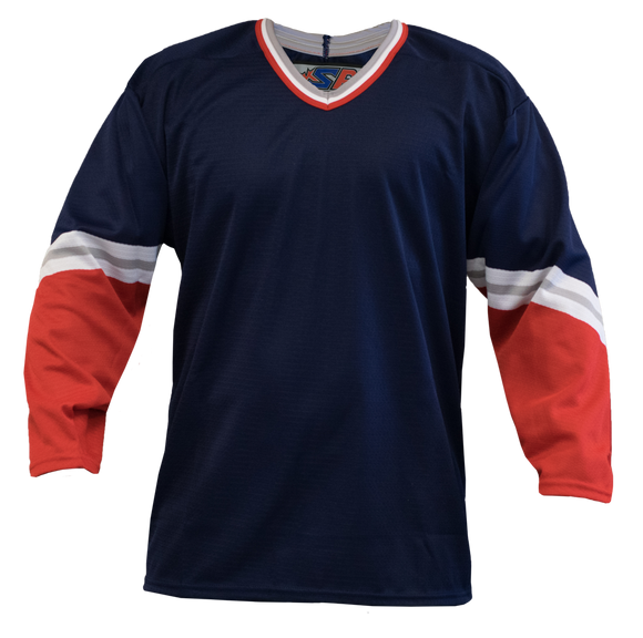 SP Apparel League Series New York Rangers Third Navy Sublimated Hockey Jersey
