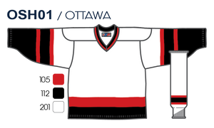 SP Apparel League Series Ottawa Senators White Sublimated Hockey Jersey - PSH Sports