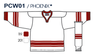 SP Apparel League Series Phoenix Coyotes White Sublimated Hockey Jersey - PSH Sports