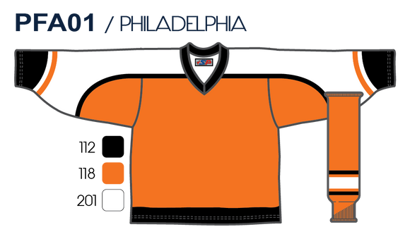 SP Apparel League Series Philadelphia Flyers Orange Sublimated Hockey Jersey - PSH Sports