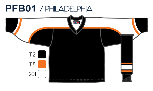 SP Apparel League Series Philadelphia Flyers Black Sublimated Hockey Jersey - PSH Sports