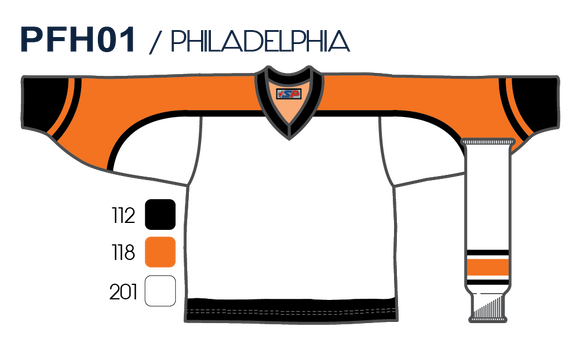 SP Apparel League Series Philadelphia Flyers White Sublimated Hockey Jersey - PSH Sports