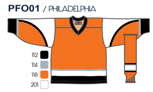 SP Apparel League Series Philadelphia Flyers Third Orange Sublimated Hockey Jersey - PSH Sports
