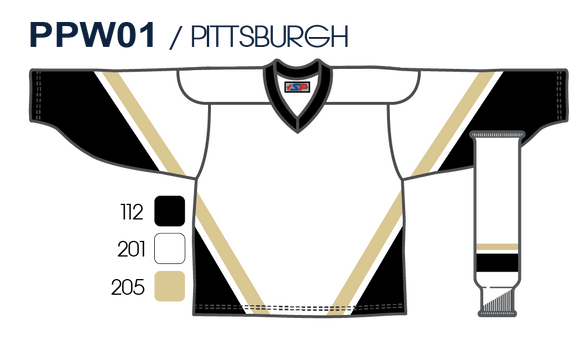 SP Apparel League Series Pittsburgh Penguins White Sublimated Hockey Jersey - PSH Sports